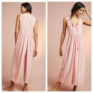 New Anthropologie Visayas Striped Jumpsuit